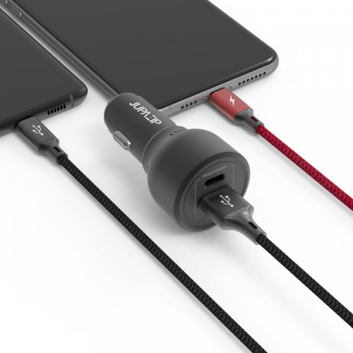 주파집 63W USB / PD 타입 PPS 차량용 초고속충전기 CC01