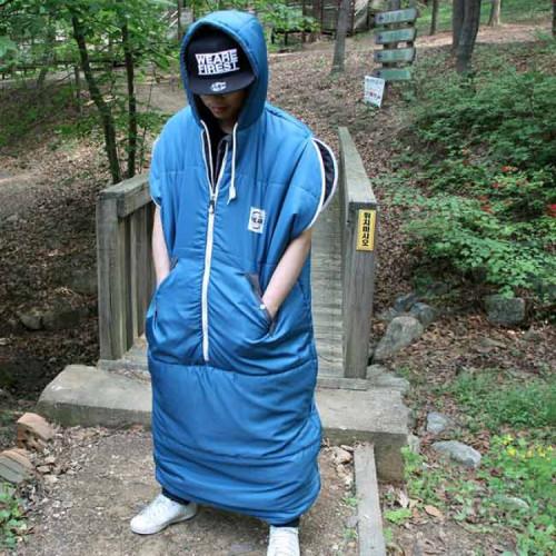 빈슨메시프 웨어 침낭 옷처럼 입는 캠핑 침낭