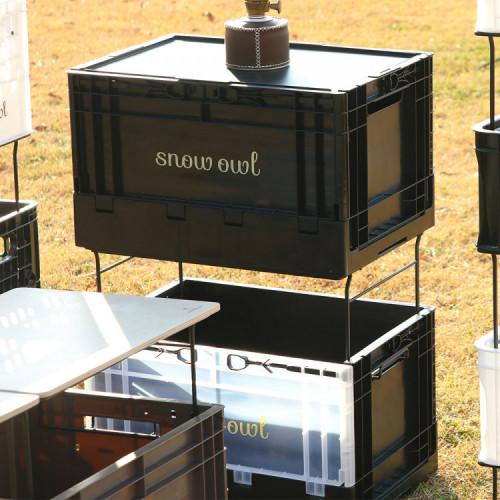 스노우아울 유틸리티 폴딩박스 블랙(시크릿, 클리어)