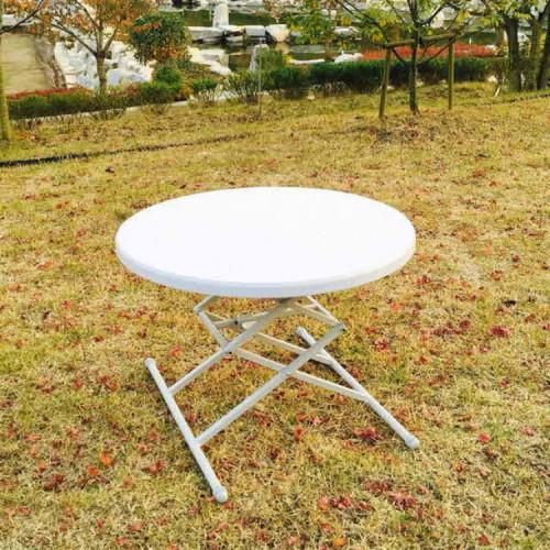 원형 브로몰딩 테이블  높이조절 캠핑용 피크닉테이블 820x820