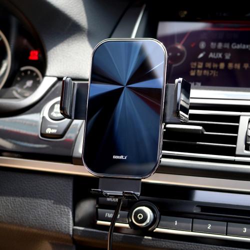 솔츠 차량용 핸드폰 충전기 15W 무선 고속 충전 거치대 X7