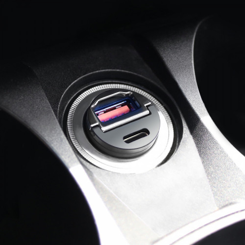솔츠 차량용 고속 듀얼포트 미니 시거잭 충전기 PD 3.0