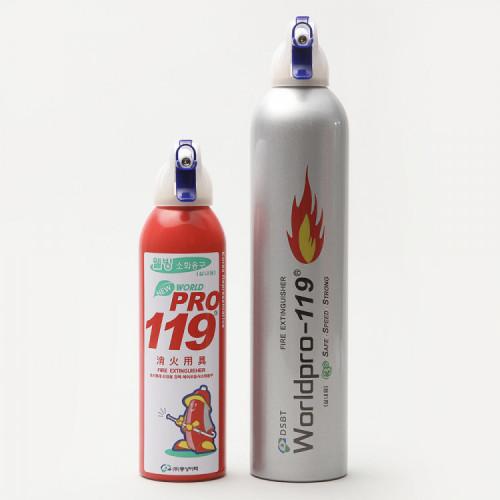 스프레이형 소화기 에어로졸 월드프로119(가정, 매장, 캠핑, 휴대용)